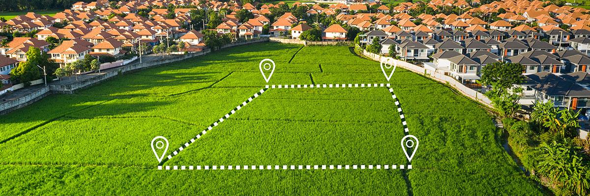 Grundstückabmessung für Neubau